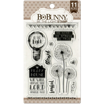 BoBunny BE THE LIGHT Clear Stamps 12105026