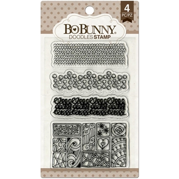 BoBunny DOODLES Clear Stamps 12105028