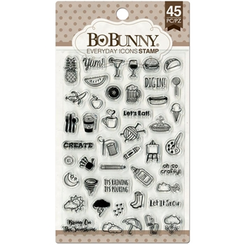 BoBunny EVERYDAY ICONS Clear Stamps 12105030