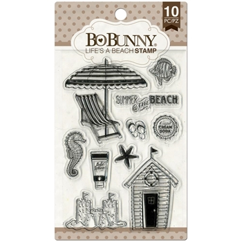 BoBunny LIFE'S A BEACH Clear Stamps 12105031