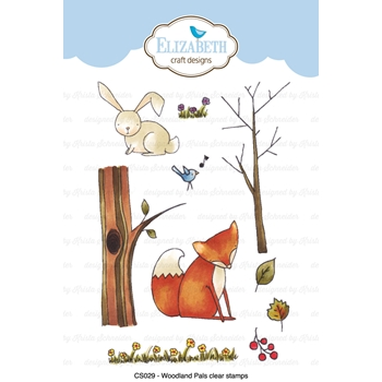 Elizabeth Craft Designs Clear Stamps WOODLAND PALS CS029