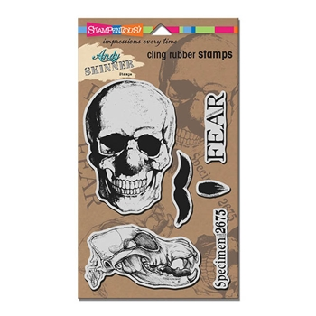 Stampendous Cling Stamp SKULLDOGGERY Rubber UM ASCRS08