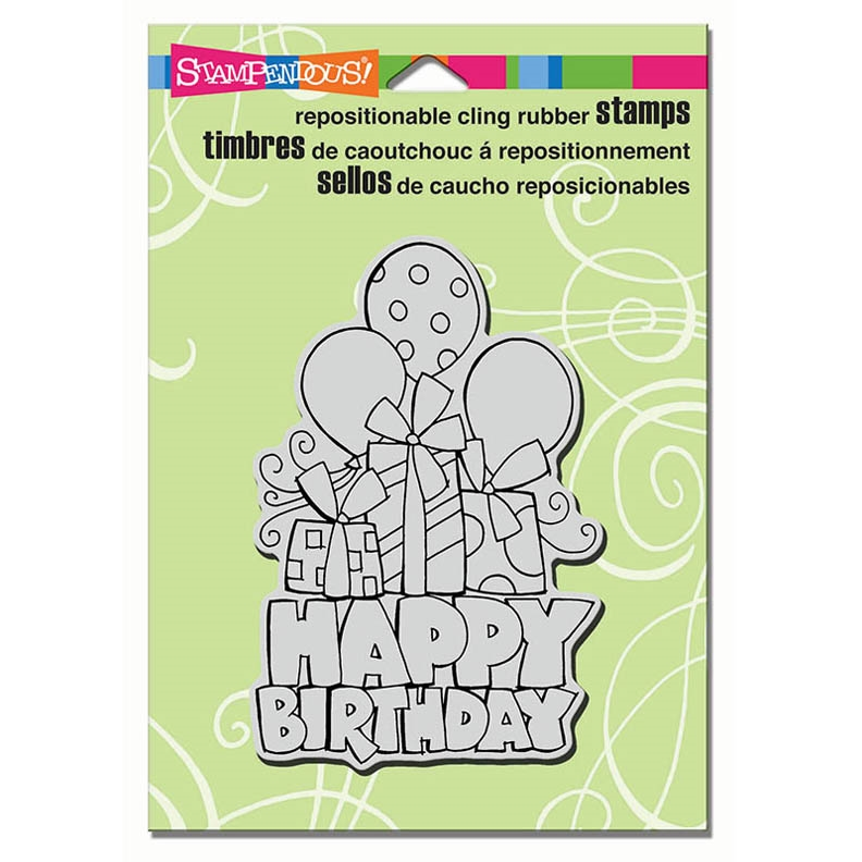 Stampendous Cling Stamp CHUNKY BIRTHDAY Rubber UM CRP298 zoom image