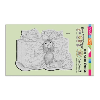 Stampendous Cling Stamp TISSUE BOX Rubber UM HMCR90 House Mouse
