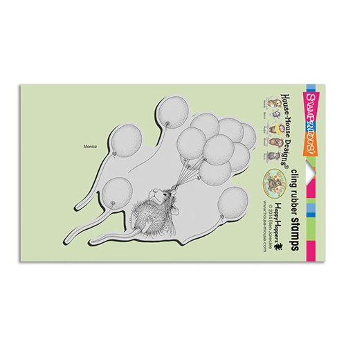 Stampendous, House Mouse Helium Ride Cling Stamp