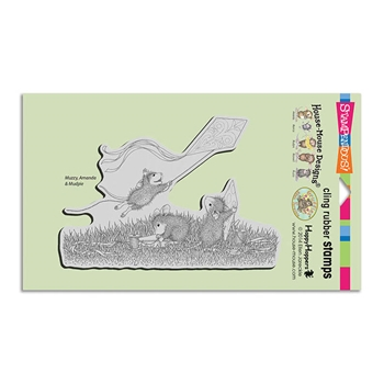 Stampendous Cling Stamp KITE FLIGHT Rubber UM HMCR97 House Mouse