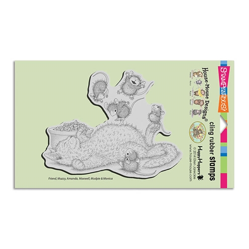 Stampendous, House Mouse, Kitty Bounce Cling Stamp