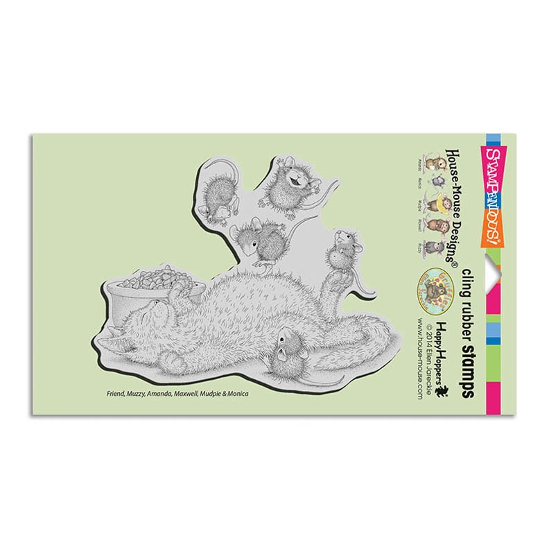 Stampendous House Mouse Kitty Bounce Cling Stamp