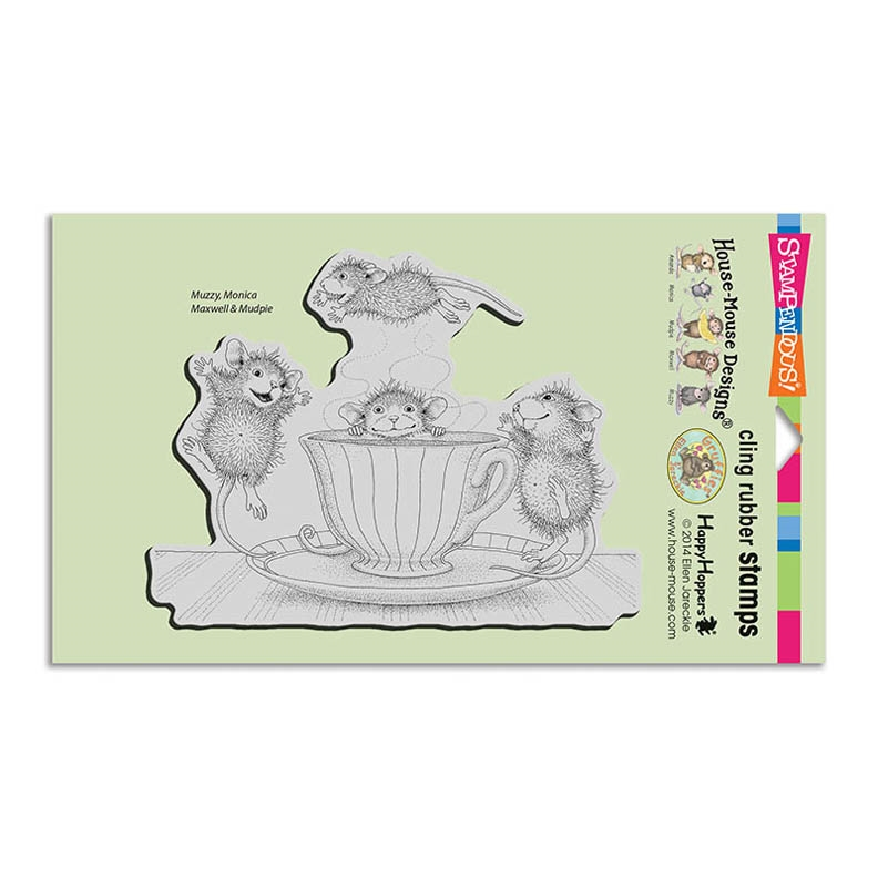 Stampendous Cling Stamp COFFEE CRAZY Rubber UM HMCR99 House Mouse zoom image