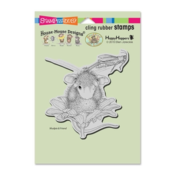 Stampendous Cling Stamp GRASSHOPPER LEAP Rubber UM HMCW06 House Mouse