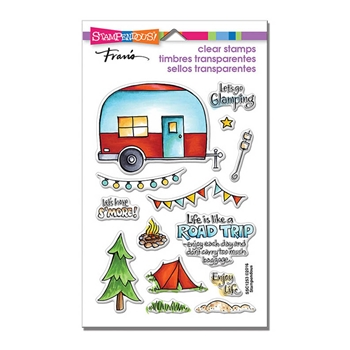 Stampendous Clear Stamps CAMPGROUND SSC1253