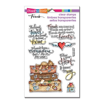 Stampendous Clear Stamps TRAVEL HOME SSC1254