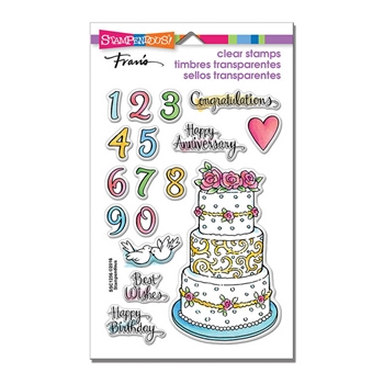 Stampendous Clear Stamps CAKE TIERS SSC1256