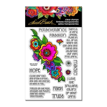 Stampendous Clear Stamps FLORAL REFLECTIONS Laurel Burch SSCL101