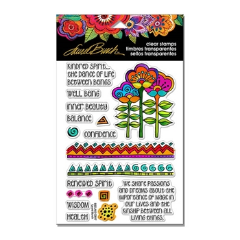 Stampendous Clear Stamps KINDRED BORDERS Laurel Burch SSCL102
