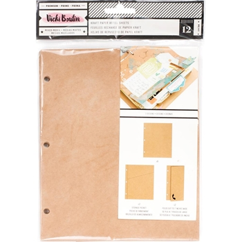 American Crafts Vicki Boutin KRAFT PAPER Junque Journal Refill Mixd Media 376856