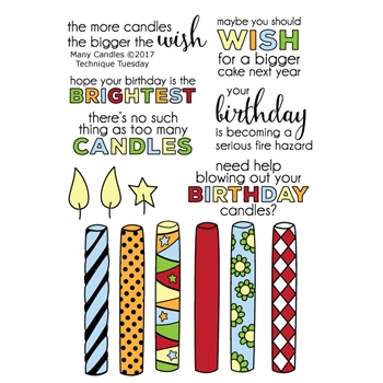 Technique Tuesday MANY CANDLES Clear Stamps 02425