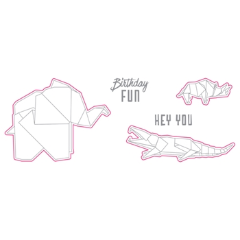 Richard Garay HEY YOU FOLDS Origami Love Collection Stamp and Die Set olsd001