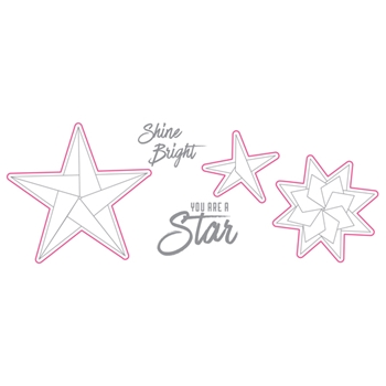 Richard Garay SHINE BRIGHT Origami Love Collection Stamp and Die Set olsd004