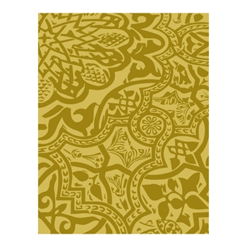 Richard Garay BROCADE CODE Silver And Gold Collection Embossing Folder sgef002