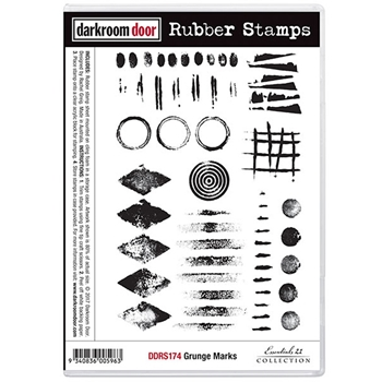 Darkroom Door Cling Stamp GRUNGE MARKS Rubber UM DDRS174