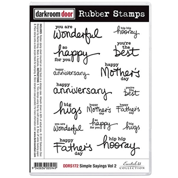 Darkroom Door Cling Stamp SIMPLE SAYINGS VOLUME 2 Rubber UM DDRS172