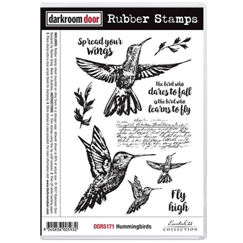 Darkroom Door Cling Stamp HUMMINGBIRDS Rubber UM DDRS171