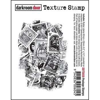Darkroom Door Cling Stamp POSTAGE STAMPS Texture Rubber UM DDTS030