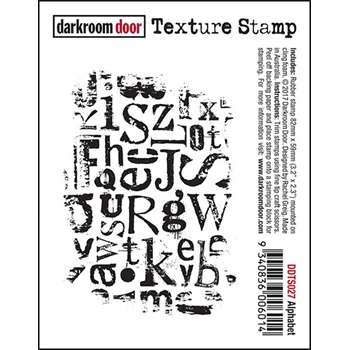 Darkroom Door Cling Stamp ALPHABET Texture Rubber UM DDTS027