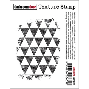 Darkroom Door Cling Stamp TRIANGLES Texture Rubber UM DDTS029