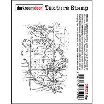 Darkroom Door Cling Stamp MAP Texture Rubber UM DDTS025