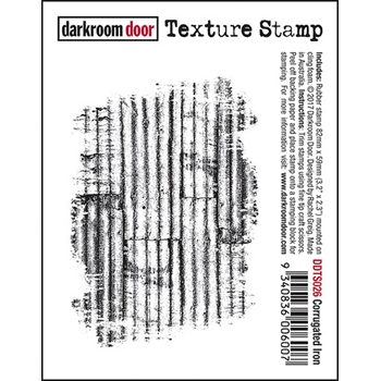 Darkroom Door Cling Stamp CORRUGATED IRON Texture Rubber UM DDTS026