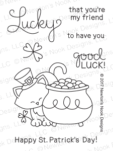 Newton's Nook Designs NEWTON'S POT OF GOLD Clear Stamp Set 20170203