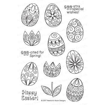 Newton's Nook Designs BEAUTIFUL SPRING Clear Stamp Set 20170202