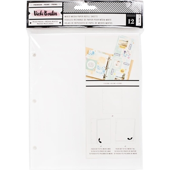 American Crafts Vicki Boutin MIXED MEDIA PAPER Junque Journal Refill 376857