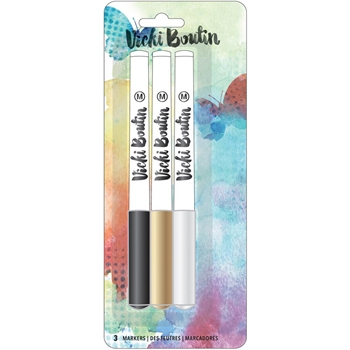 American Crafts Vicki Boutin METALLIC MARKER PACK Mixed Media 376854
