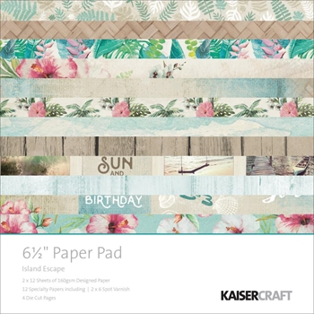 Kaisercraft ISLAND ESCAPE 6.5 x 6.5 Inch Paper Pad PP1014