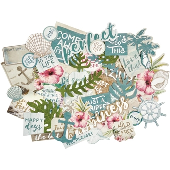 Kaisercraft ISLAND ESCAPE Collectables Die Cut Shapes CT874