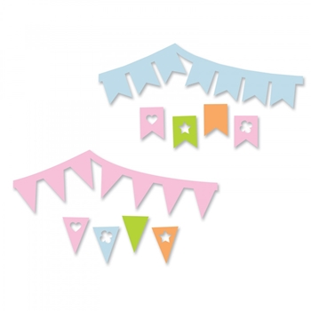 Sizzix BANNERS DROP-INS Thinlits Die Set 661834