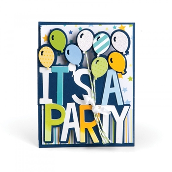Sizzix ITS A PARTY DROP-INS Thinlits Die Set 661831