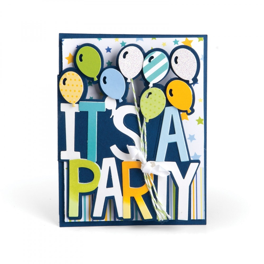 Sizzix ITS A PARTY DROP-INS Thinlits Die Set 661831 zoom image