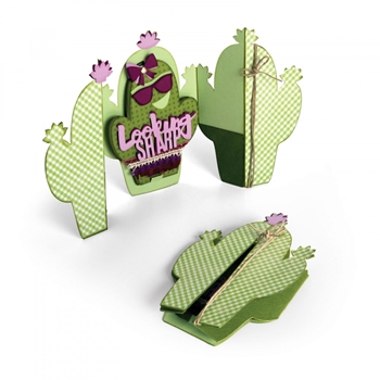Sizzix CACTUS FOLD A LONG Thinlits Die Set 661873