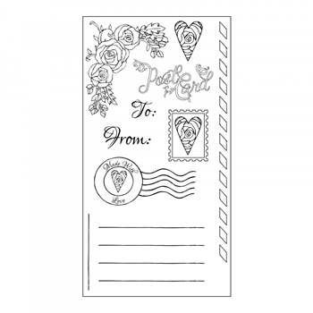 Sizzix Clear Stamps IN BLOOM POSTCARD SET 661870