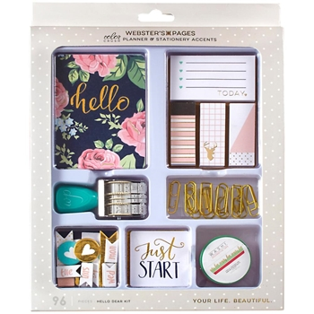 Webster's Pages HELLO DEAR Color Crush Planner And Stationary Accents Kit TRAY3