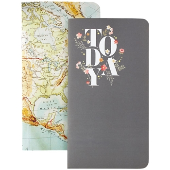 Webster's Pages US MAP AND GRAY TODAY Color Crush Traveler's Planner Notebooks NP105