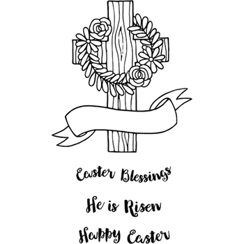 Jane's Doodles HE IS RISEN Clear Stamp Set 743085