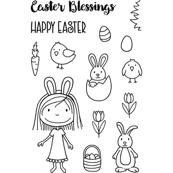 Jane's Doodles SUZI'S EASTER Clear Stamp Set 743061