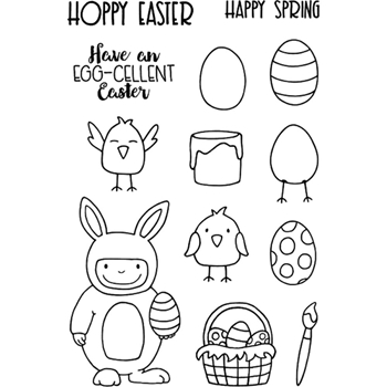Jane's Doodles FUNNY BUNNY Clear Stamp Set 743078