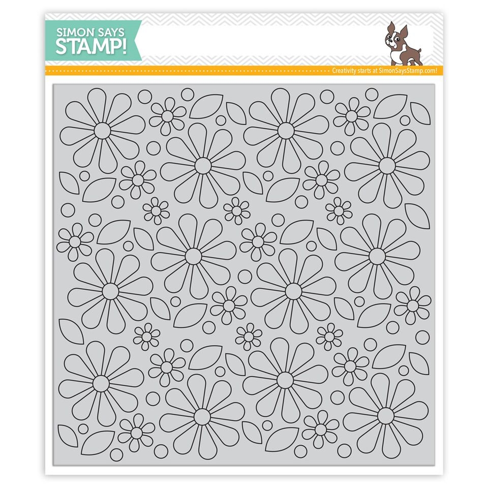 Simon Says Cling Rubber Stamp MOD FLOWER BACKGROUND SSS101702 zoom image