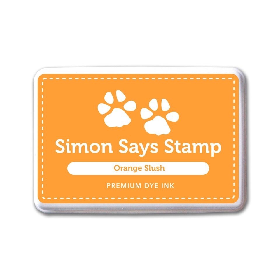 Simon Says Stamp Premium Dye Ink Pad ORANGE SLUSH Ink079 zoom image